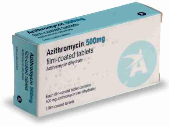 Afbeelding van de Azitromycine 500 mg voor de SOA Chlamydia.