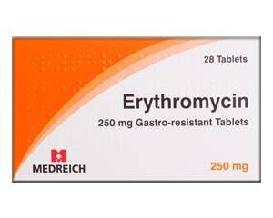 Erythromycine 250mg 56 tabl. - Medicatie voor Chlamydia