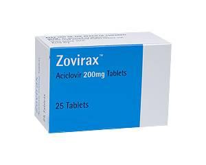 Afbeelding van de Zovirax 200 mg 35 tabl. voor de SOA Herpes.
